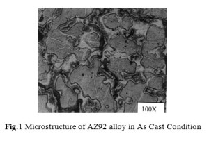 Fig.1 Microstructure of AZ92 alloy in As Cast Condition