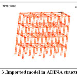 Figure 3 .Imported model in ADINA structures